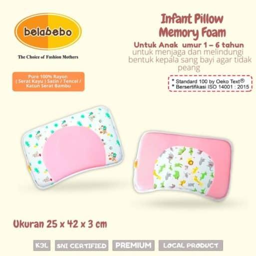 Inflant Pillow Memory Foam Ukuran Belabebo