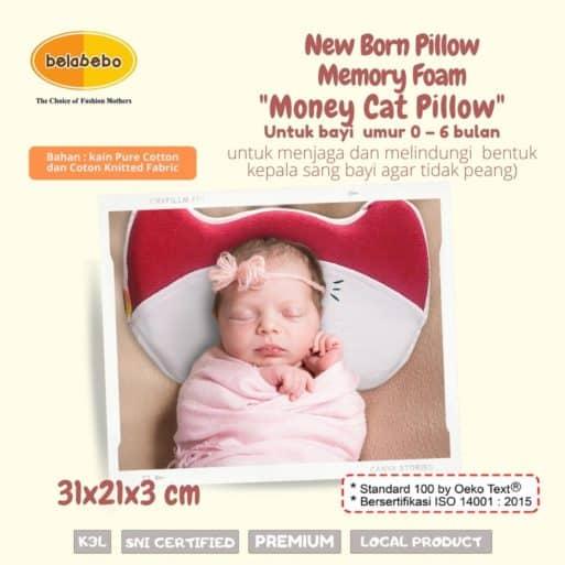 New Born Pillow Money Cat Pillow Belabebo