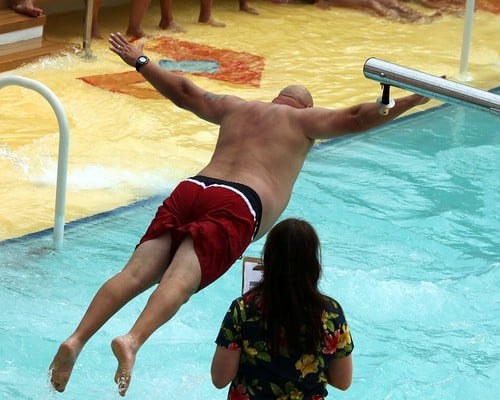 belly flop photo