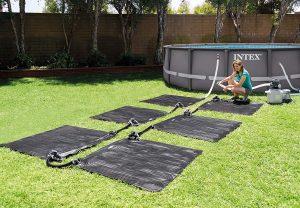 solar heating mats to heat an intex pool
