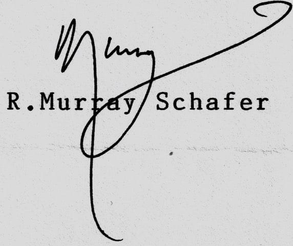 Signature of R Murray Schafer