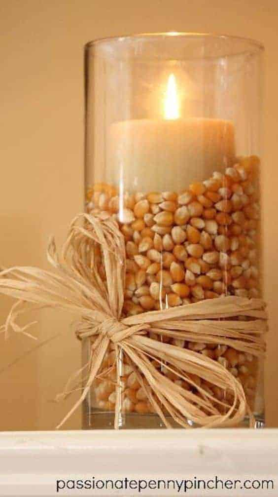 candle fall holiday decoration