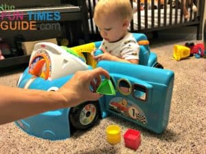 The FIsher Price Laugh And Learn Crawl Around Car is a great learning tool for toddlers.