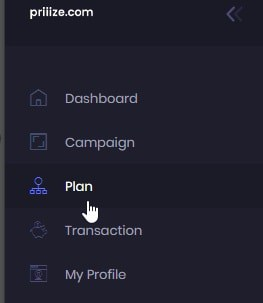 "Click ""Plan"" and then select either the free plan or a paid plan"