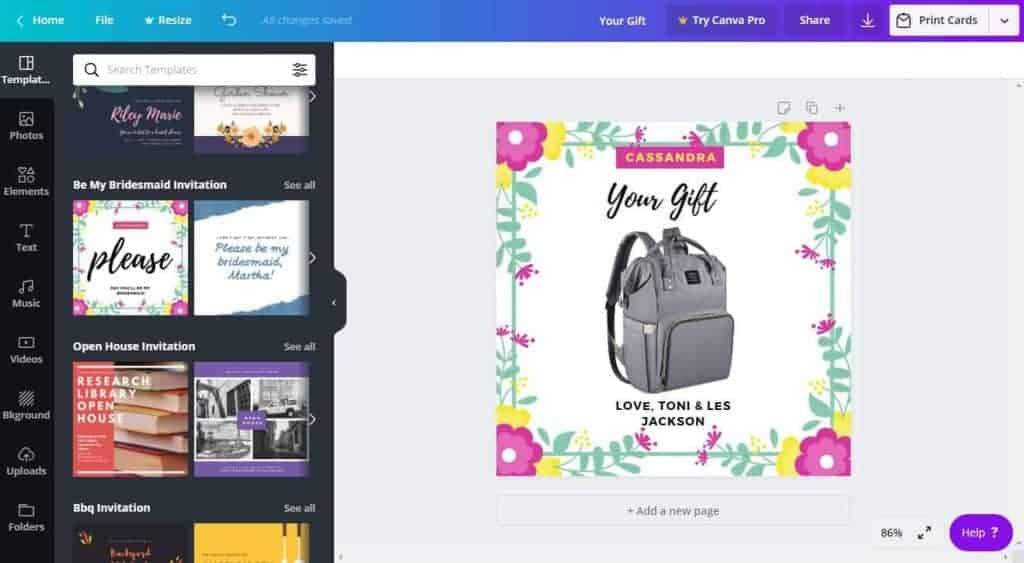 Create custom prize and gift images for free