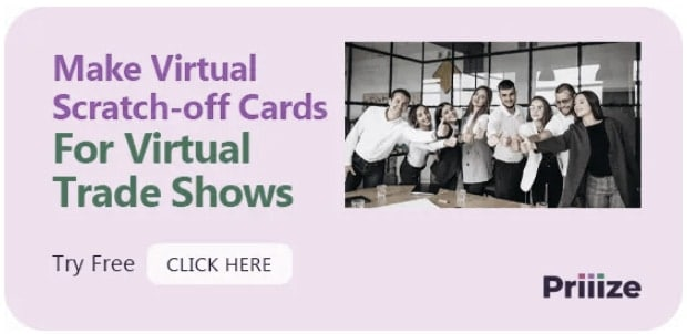 Virtual scratch-off cards - Virtual trade show