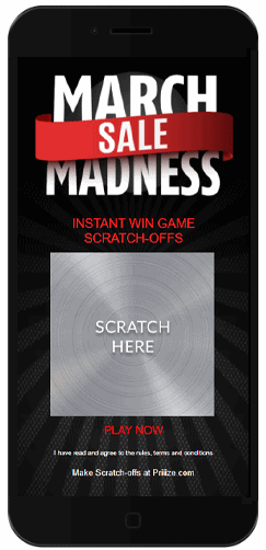 The March Madness Scratcher is made with free scratch-off game images from Priiize.