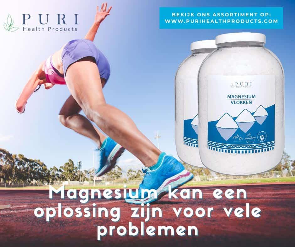 hardloper sprinter op een mooie zomerse dag 2 potten magnesium vlokken - magnesium kan een oplossing zijn voor vele problemen