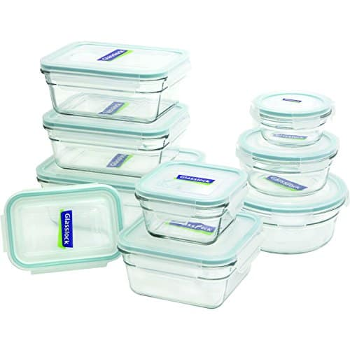 Glasslock 18 Pieces Assorted Oven Safe Container Set