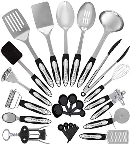Zodaca premium 7-pieces kitchen cooking utensils set