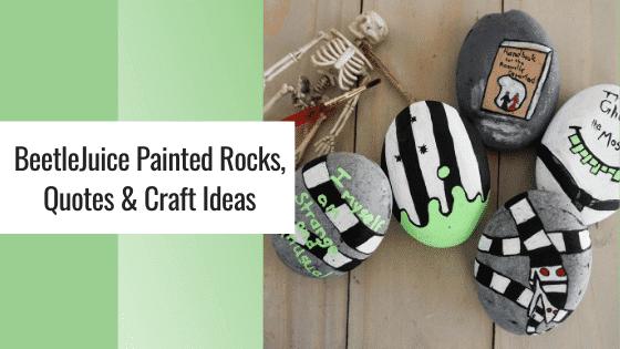 beetlejuice painted rocks