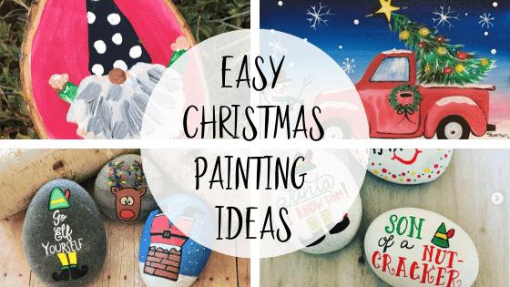 christmas painting ideas