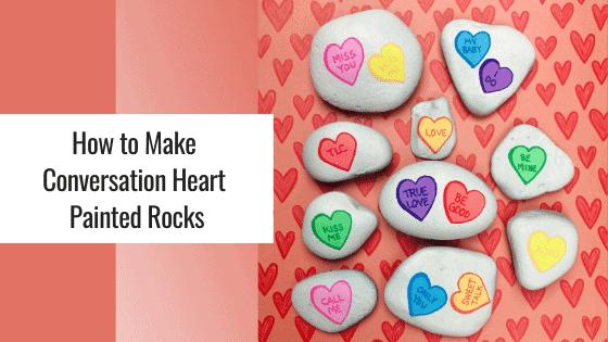 heart painted rocks