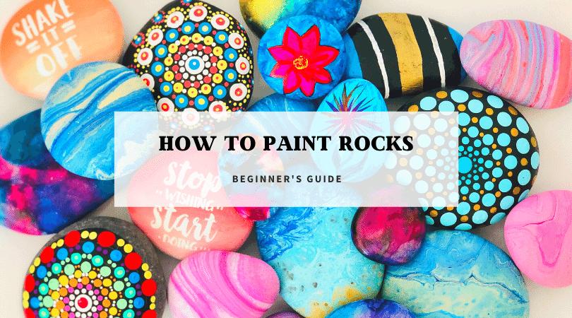 how to paint rocks using alcohol ink, acrylic paint. mandala dot rocks, and paint poured rocks