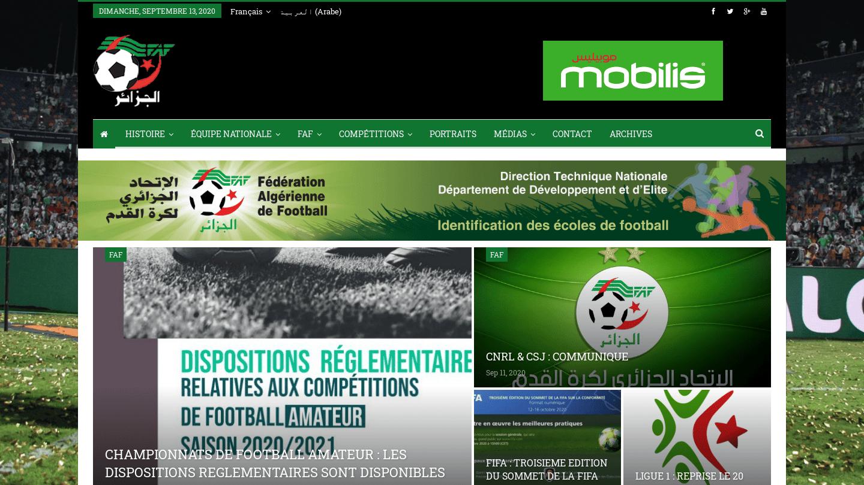 La Fédération algérienne de football