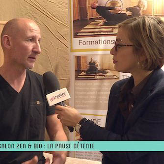 Interview du professeur au salon Zen et Bio