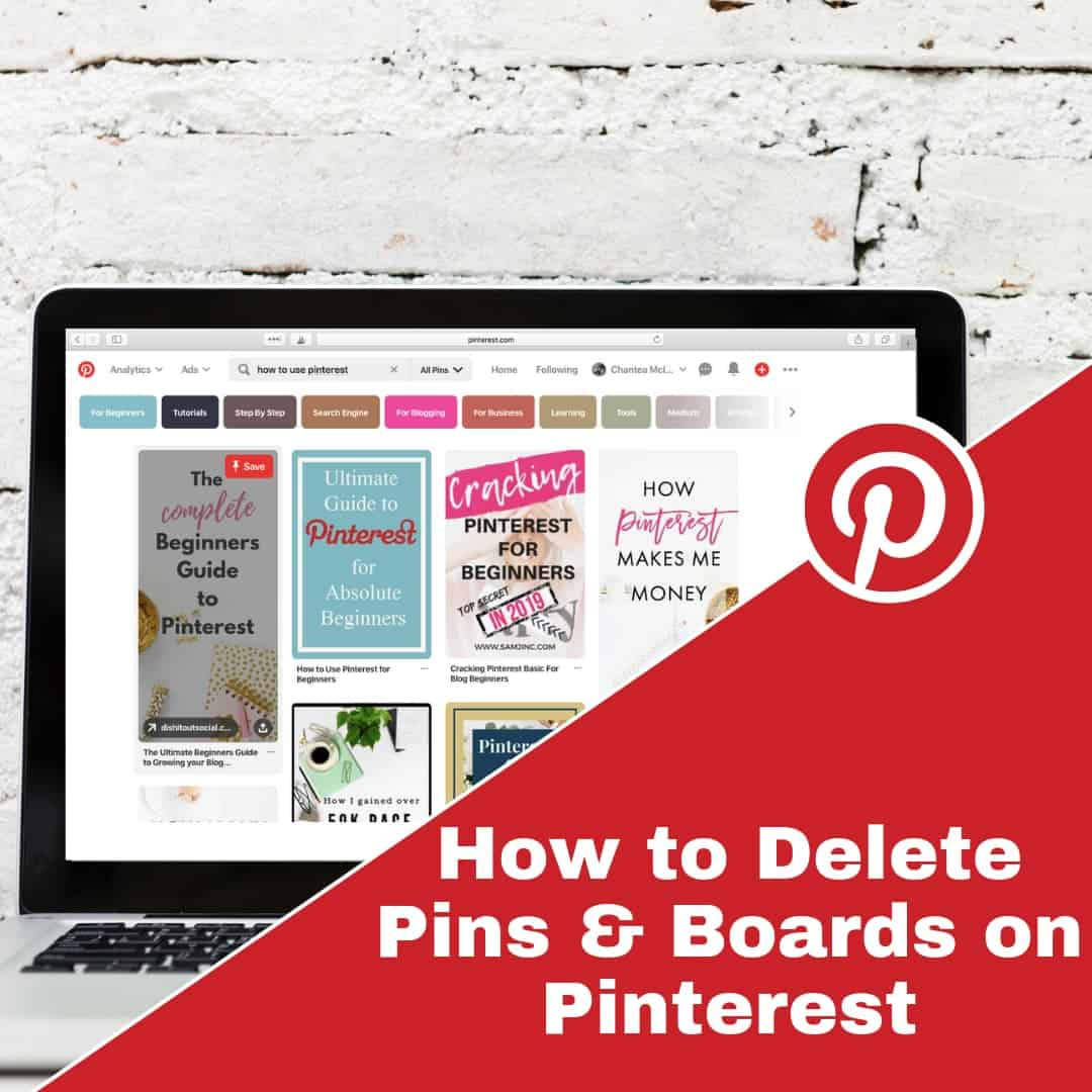Deleting a Pin or Board on Pinterest