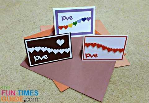 homemade valentine cards - hearts cards
