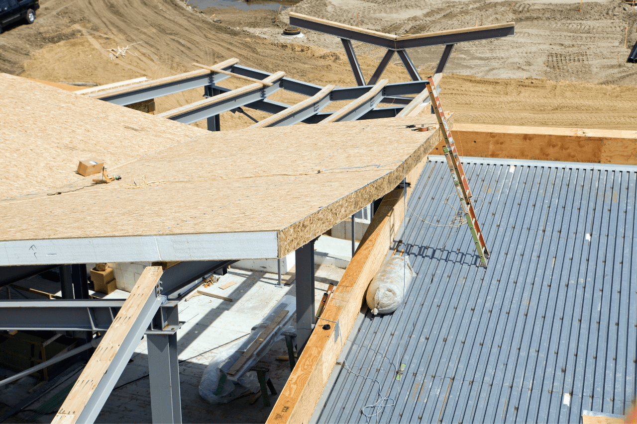 Commercial new construction roof