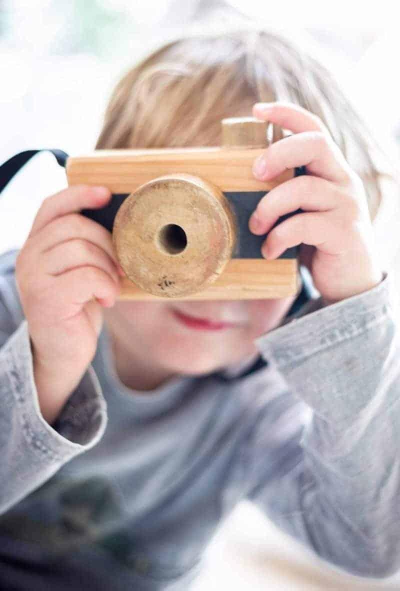 DIY Spielzeug Fotoapperat aus Holz