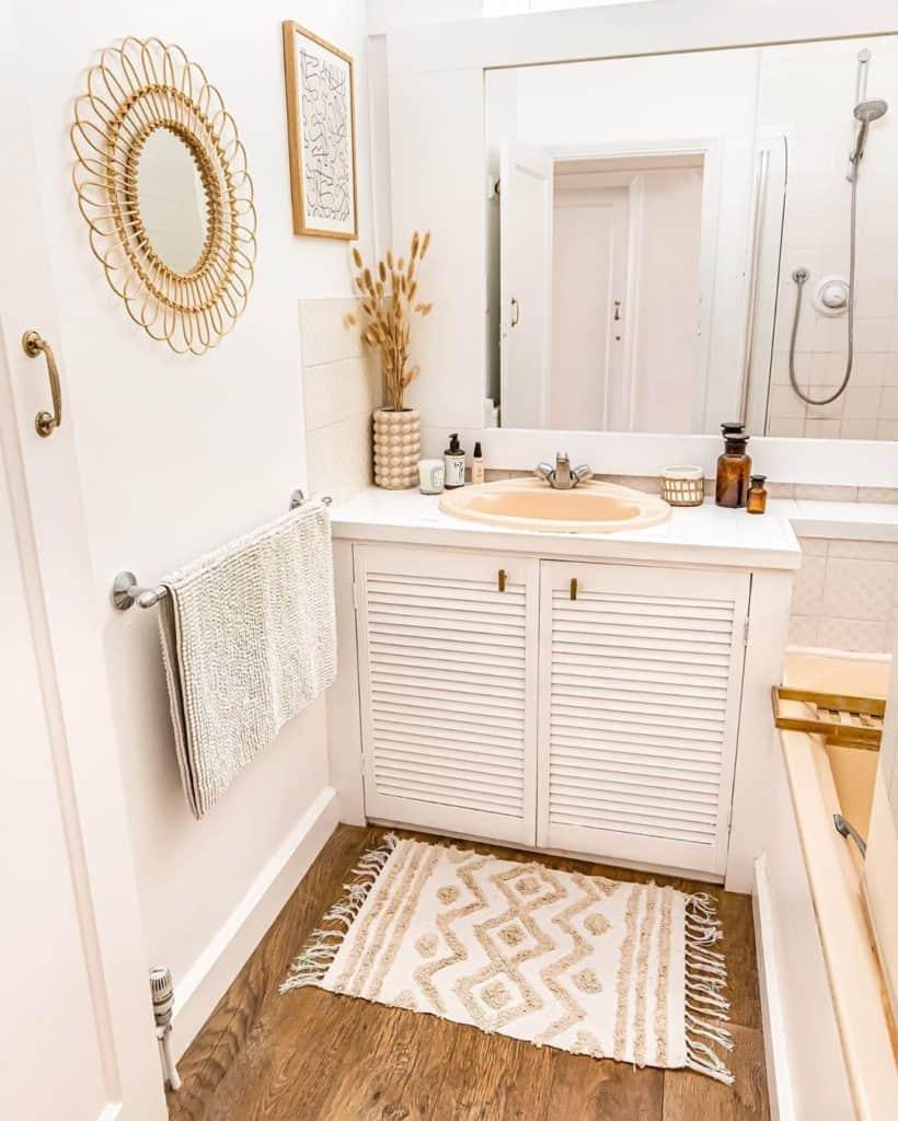bathroom cabinet idea with white vanity close door style cabinet