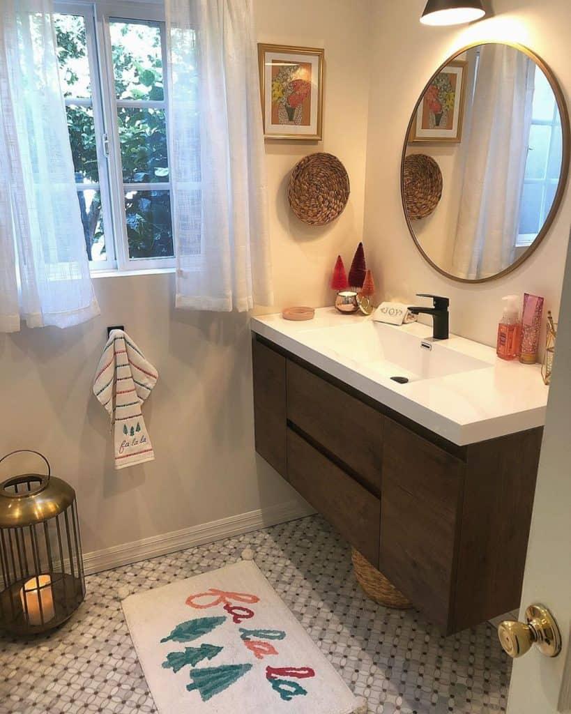 modern square bathroom cainet idea