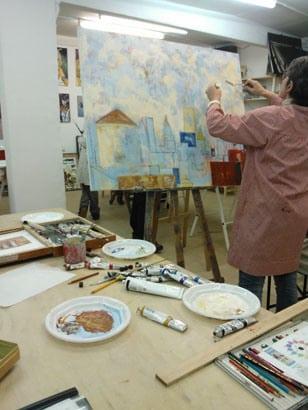 Pintura de PAISAJE a partir de fotos y apuntes en nuestro Taller. Barcelona