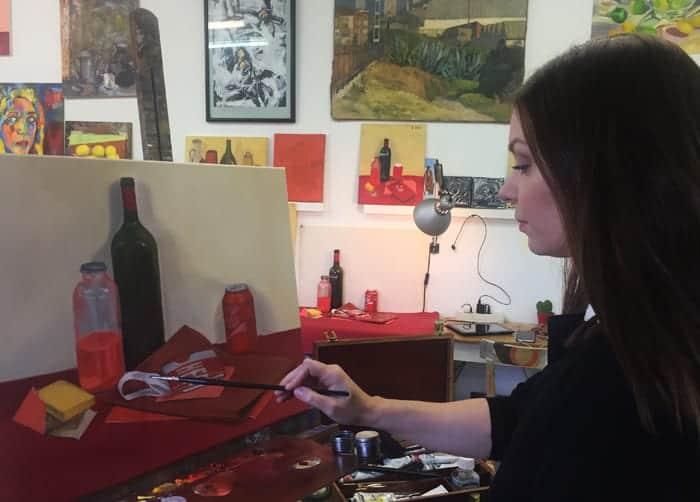 Pintura de objetos. Ejercicio de estudio. Taller 4 Pintors