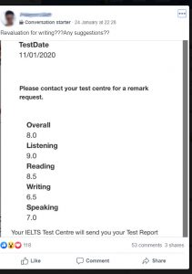 asking for IELTS re-marking