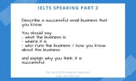 Describe a Business [IELTS Speaking Part 2]