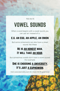 vowel sounds and articles