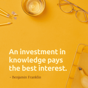 inspiring educational quote by ben franklin