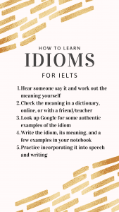 how to learn idioms for ielts