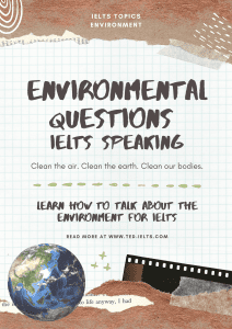 ielts questions about the environment