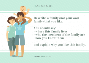 ielts cue cards - describe a family that you like