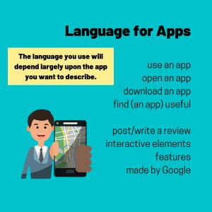 describe an app - vocabulary for ielts