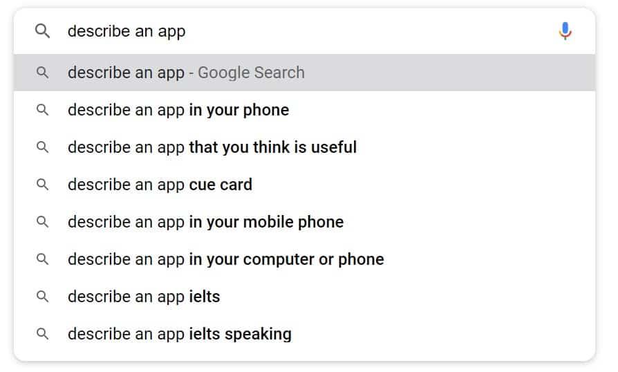 describe an app [ielts speaking]