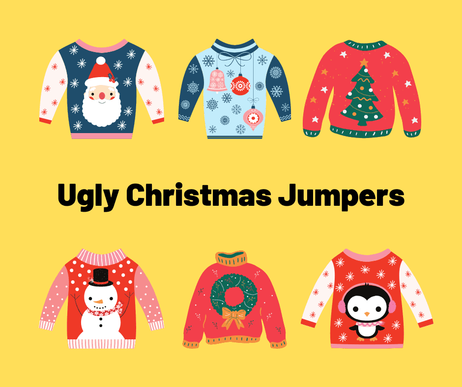 ugly christmas sweaters (jumpers)