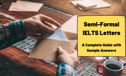 Semi-Formal Letter Writing for IELTS