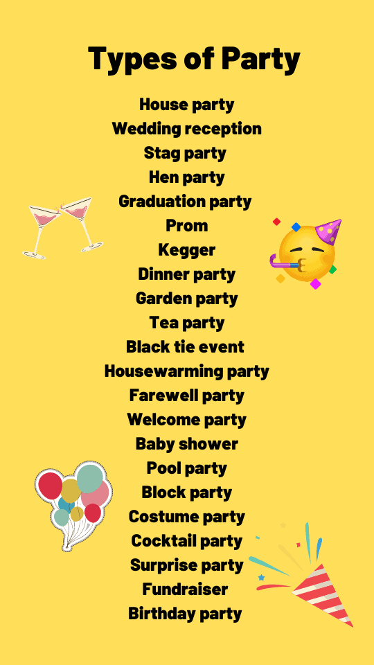 different types of party
