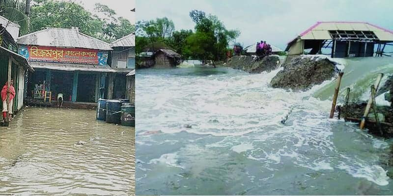 Flood water is receding in the North; Southern Part Has Been Flooded in Bangladesh