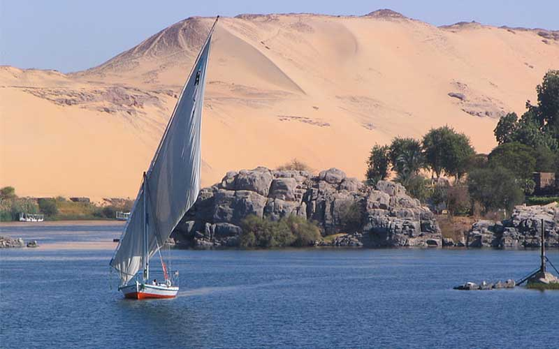 Row over the construction of a dam on Nile river Egypt vs. Ethiopia