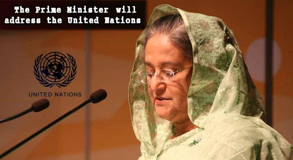 The Prime Minister will address the United Nations