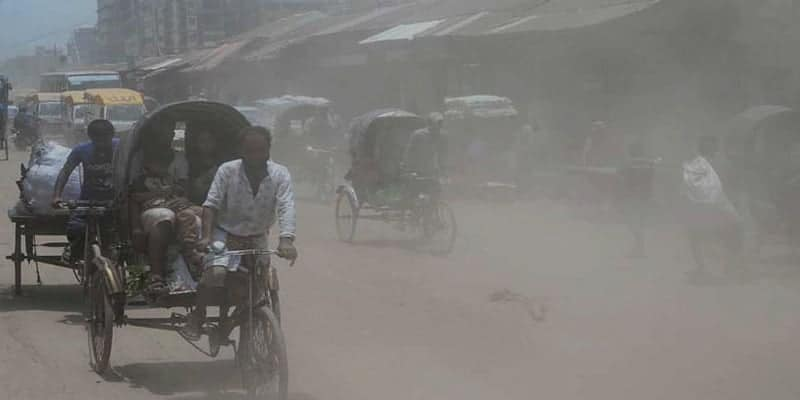 Today Dhaka tops the list of cities with polluted air