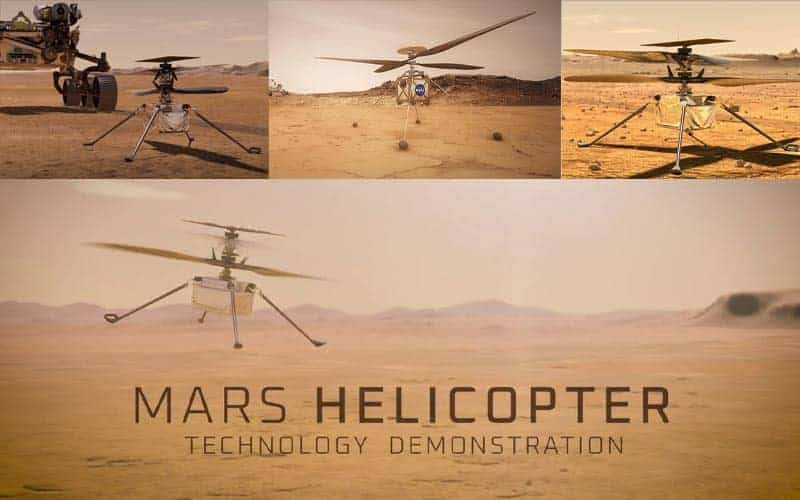 The copter will fly on the ground of the red planet!