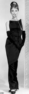ऑड्रे हेपबर्न की ब्लैक गिवेंची ड्रेस। Black Givenchy dress of Audrey Hepburn.