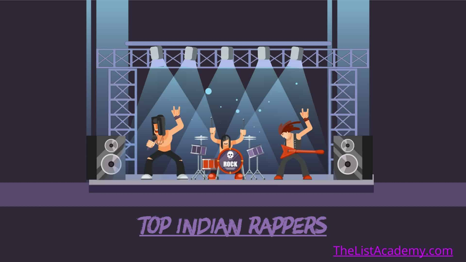 Cover Image For List : 65 Popular Indian Rappers