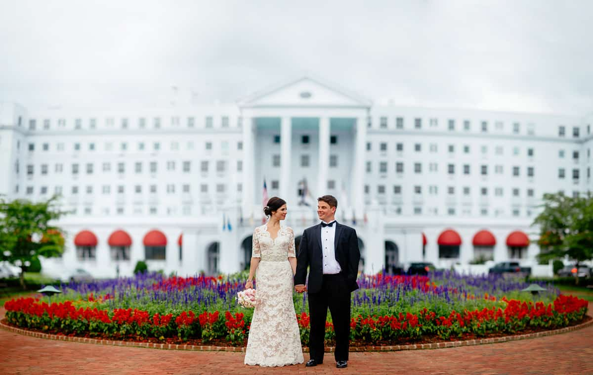 wedding photos at the greenbrier resort by the oberports