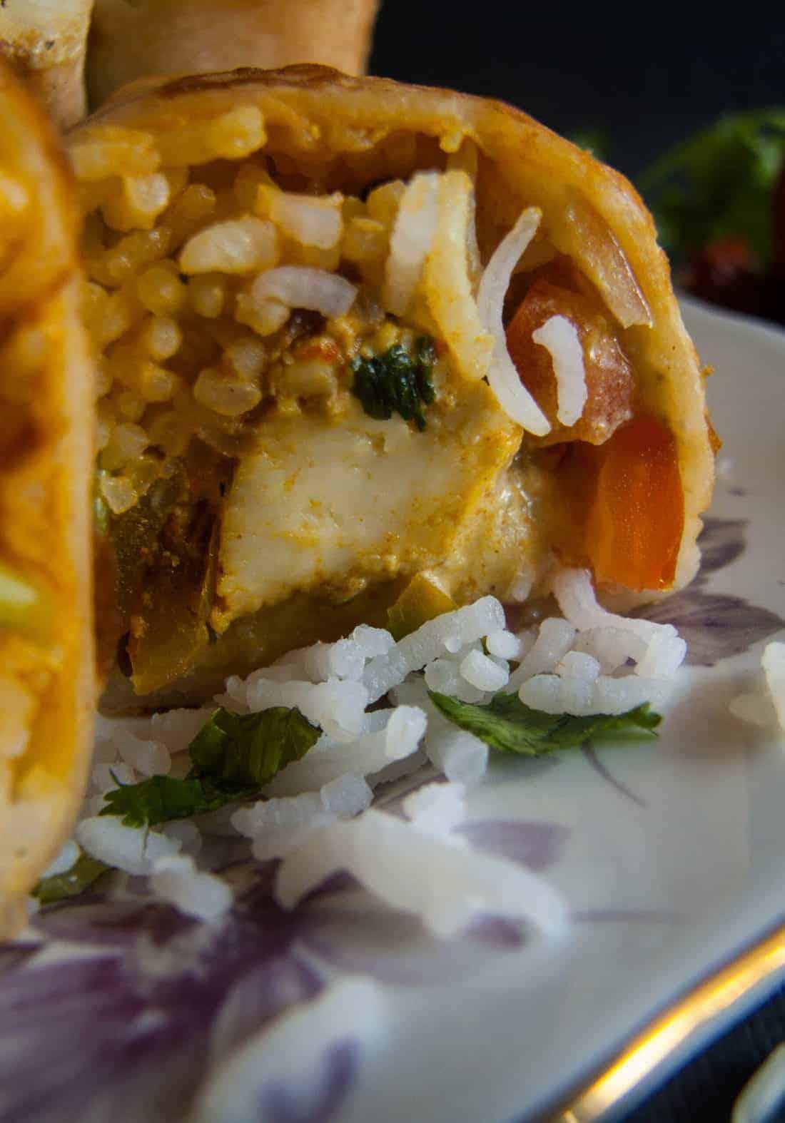 paneer burrito recipe