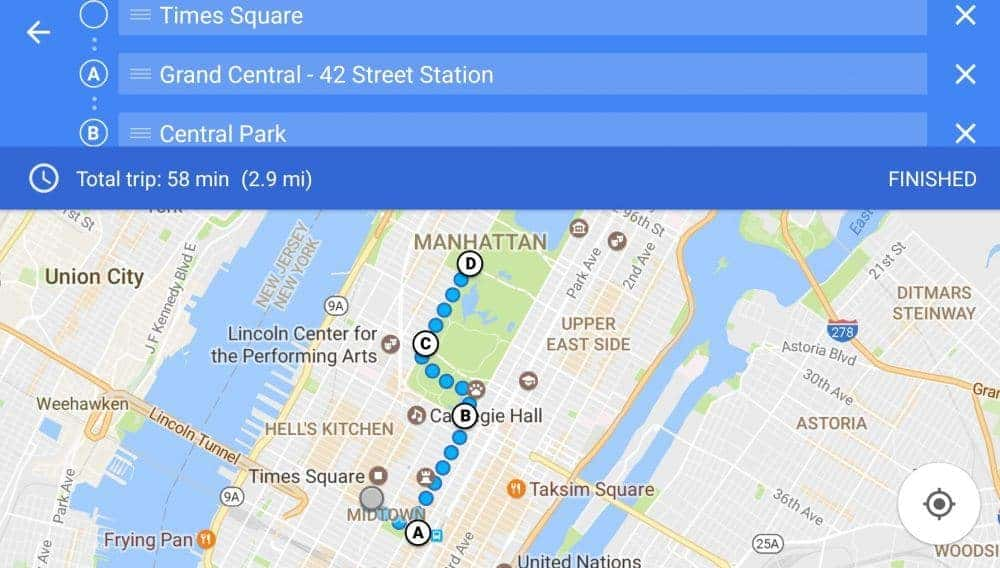 Google Maps - multi-stop
